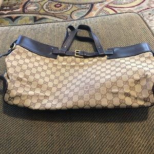 Authentic Gucci brown monogram leather purse